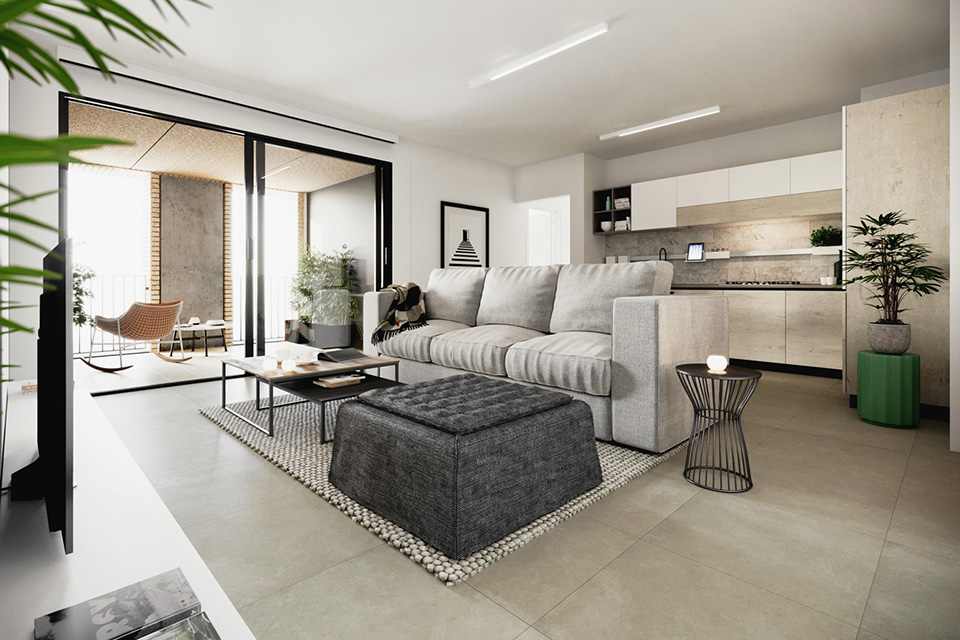 3.5 rooms apartments in new building in the heart of Lugano